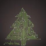 Tarjeta de Navidad de las líneas del metro Fotografía de archivo