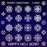 Tarjeta de Navidad de los pixeles Fotografía de archivo libre de regalías