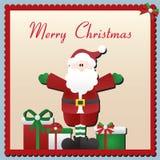 Tarjeta de Navidad de Papá Noel Fotografía de archivo libre de regalías
