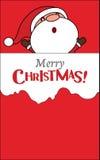 Tarjeta de Navidad de Papá Noel del bebé Imagen de archivo libre de regalías