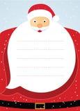 Tarjeta de Navidad de Papá Noel. Fotografía de archivo libre de regalías