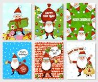 Tarjeta de Navidad de Papá Noel Imágenes de archivo libres de regalías