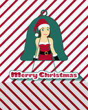 Tarjeta de Navidad de Santarina Imagen de archivo libre de regalías