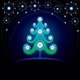 Tarjeta de Navidad decorativa Imagen de archivo libre de regalías