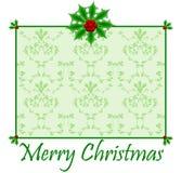 Tarjeta de Navidad del acebo Fotografía de archivo libre de regalías
