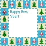 Tarjeta de Navidad del arte del pixel Fotografía de archivo libre de regalías