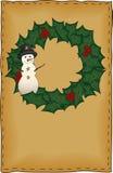 Tarjeta de Navidad del arte popular Imágenes de archivo libres de regalías