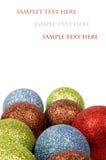 Tarjeta de Navidad del asunto con las bolas de la Navidad Foto de archivo