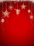 Tarjeta de Navidad del brillo Foto de archivo libre de regalías