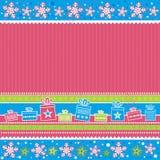 Tarjeta de Navidad del color, vector Fotografía de archivo libre de regalías