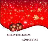 Tarjeta de Navidad del ejemplo de la bandera Imagen de archivo libre de regalías