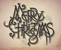Tarjeta de Navidad del estilo del vintage Foto de archivo libre de regalías