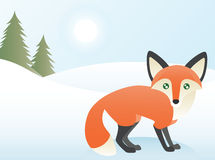 Tarjeta de Navidad del Fox stock de ilustración