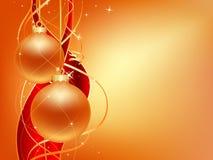 Tarjeta de Navidad del oro Imagen de archivo libre de regalías