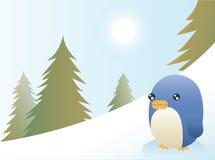 Tarjeta de Navidad del pingüino stock de ilustración