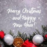 Tarjeta de Navidad del saludo fotografía de archivo