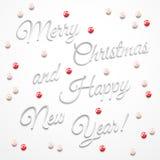 Tarjeta de Navidad del saludo Imagenes de archivo