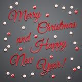 Tarjeta de Navidad del saludo Fotos de archivo libres de regalías