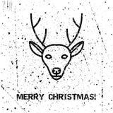 Tarjeta de Navidad del saludo Fotografía de archivo libre de regalías