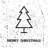 Tarjeta de Navidad del saludo Fotos de archivo