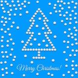 Tarjeta de Navidad del saludo Foto de archivo