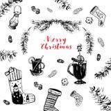 Tarjeta de Navidad del saludo Imágenes de archivo libres de regalías