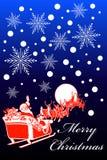 Tarjeta de Navidad del trineo de Santa Imagen de archivo