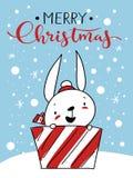 Tarjeta de Navidad del vector Imágenes de archivo libres de regalías
