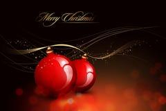 Tarjeta de Navidad del vector Fotografía de archivo libre de regalías