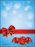 Tarjeta de Navidad del vector Imagen de archivo libre de regalías