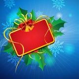 Tarjeta de Navidad del vector Imagenes de archivo