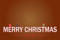 Tarjeta de Navidad del vector Imagen de archivo