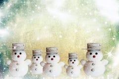 Tarjeta de Navidad del vintage Fotos de archivo