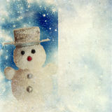 Tarjeta de Navidad del vintage Foto de archivo