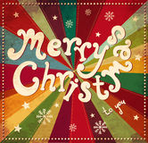 Tarjeta de Navidad del vintage ilustración del vector