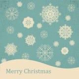 Tarjeta de Navidad del vintage del fondo stock de ilustración