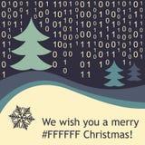 Tarjeta de Navidad divertida Fotos de archivo libres de regalías