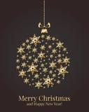 Tarjeta de Navidad. Ejemplo del vector. Foto de archivo