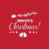 Tarjeta de Navidad elegante Foto de archivo libre de regalías