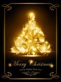 Tarjeta de Navidad elegante, invitación del partido Imagen de archivo