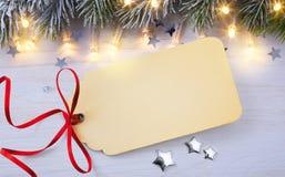 Tarjeta de Navidad en blanco fotografía de archivo libre de regalías