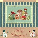 Tarjeta de Navidad en estilo de la vendimia