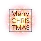 Tarjeta de Navidad en fondo abstracto de la explosión Imágenes de archivo libres de regalías
