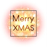 Tarjeta de Navidad en fondo abstracto de la explosión con los elementos del oro y la explosión que brillan de la estrella que bri Fotografía de archivo