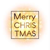 Tarjeta de Navidad en fondo abstracto de la explosión con los elementos del oro y la explosión que brillan de la estrella que bri Imagen de archivo libre de regalías