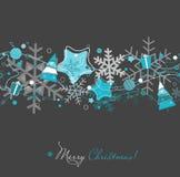 Tarjeta de Navidad en gris Foto de archivo
