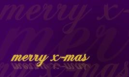 Tarjeta de Navidad en la púrpura - feliz Navidad Imagen de archivo libre de regalías