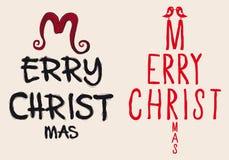 Tarjeta de Navidad escrita mano, vector Fotos de archivo