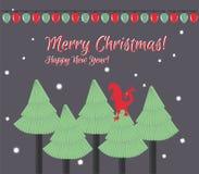 Tarjeta de Navidad ¡Feliz Navidad! ¡Feliz Año Nuevo! Foto de archivo