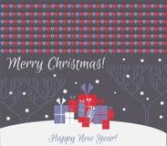 Tarjeta de Navidad ¡Feliz Navidad! ¡Feliz Año Nuevo! Imágenes de archivo libres de regalías